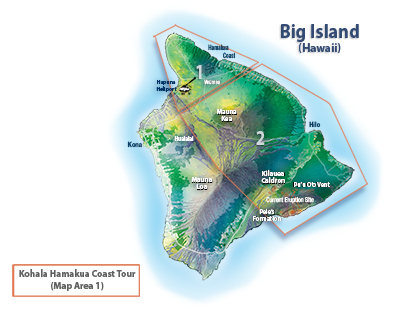 Kohala Hamakua Coast Tour Route Map