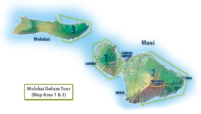 Molokai Deluxe Tour Route Map
